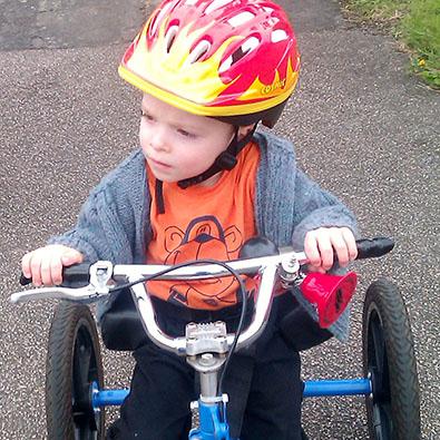 Jack tests his trike