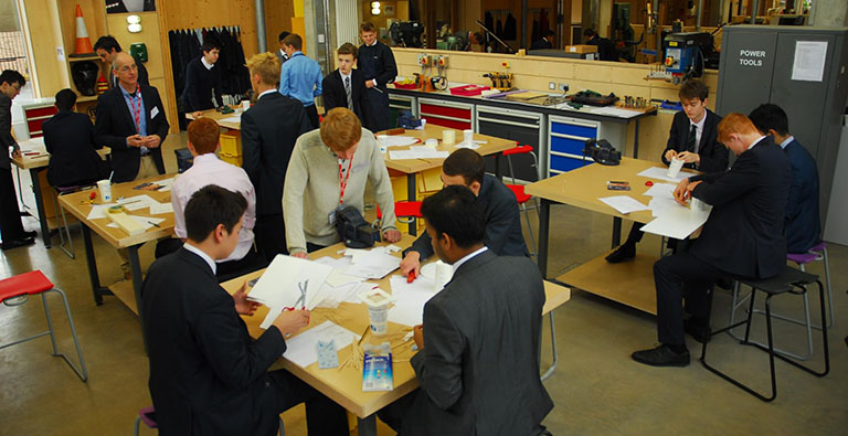 Students work on disability design challenges at Merchant Taylors School