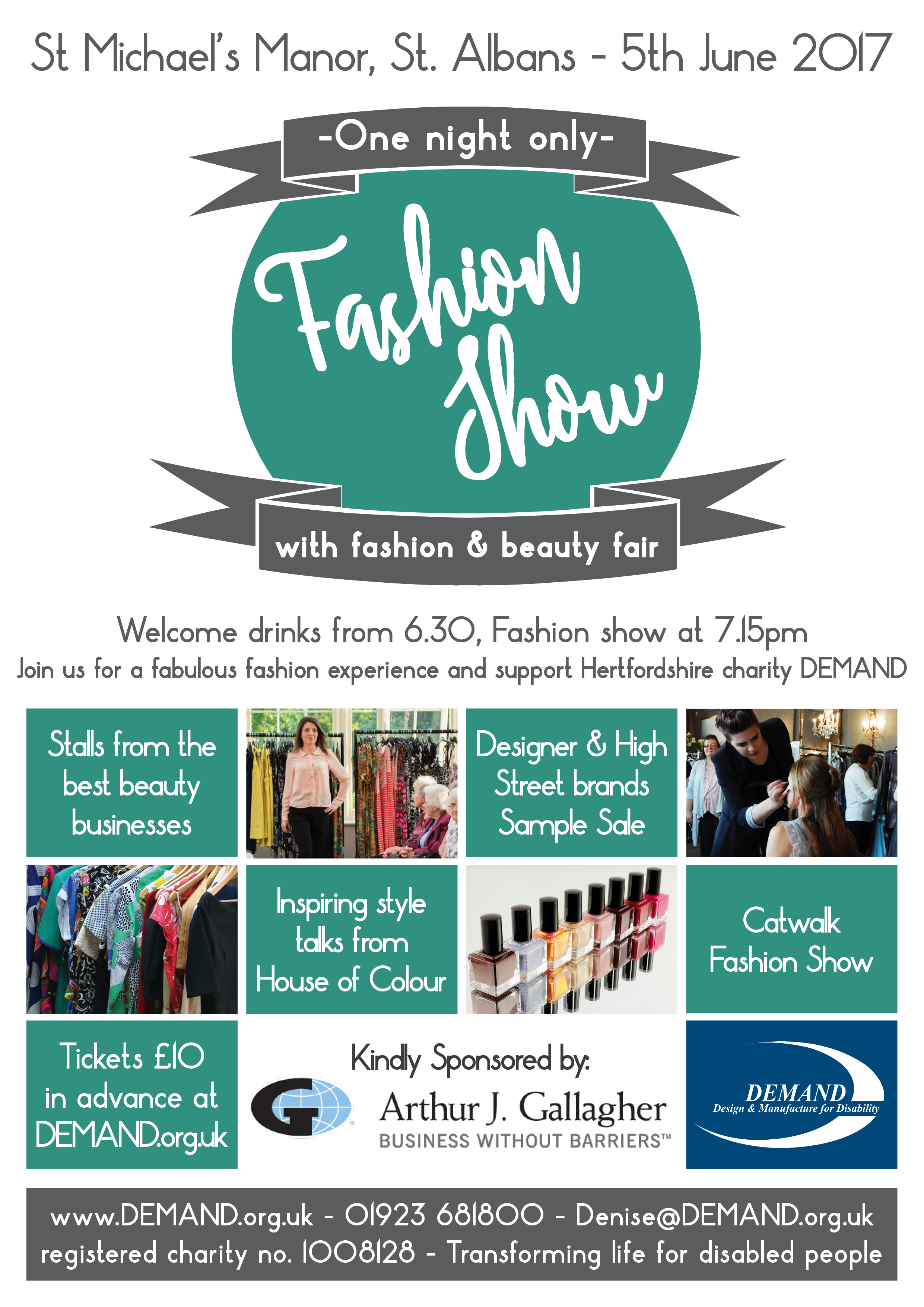 95cf8c652293 This June, St Michael's Manor Hotel in St. Albans will play host to  DEMAND's fundraising fashion extravaganza!