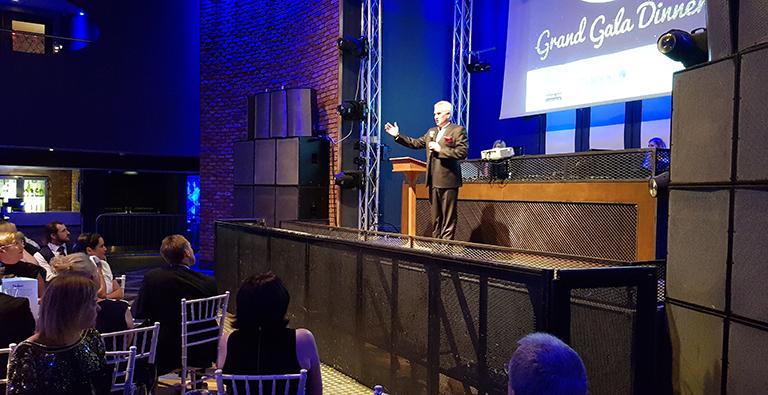 Dan Dark speaks at DEMAND's Grand Gala