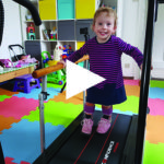 Darcey with treadmill rails