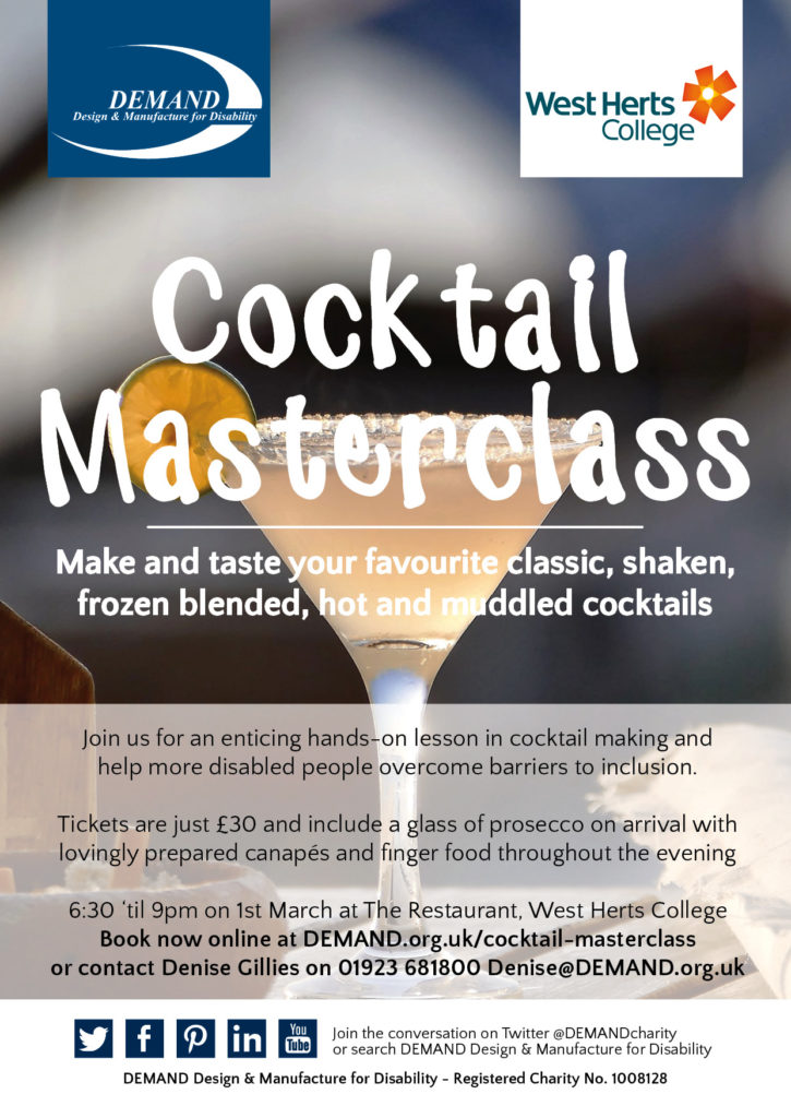 DEMAND Cocktail Masterclass poster
