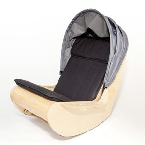 DEMAND Sensory Shell Chair Rocking Chair With Hood