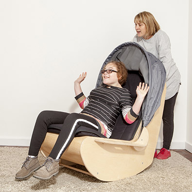 DEMAND Sensory Shell Chair Rocking