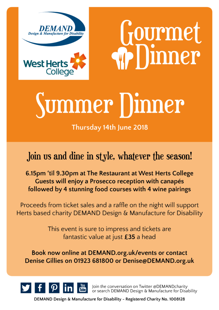 Summer gourmet dinner poster