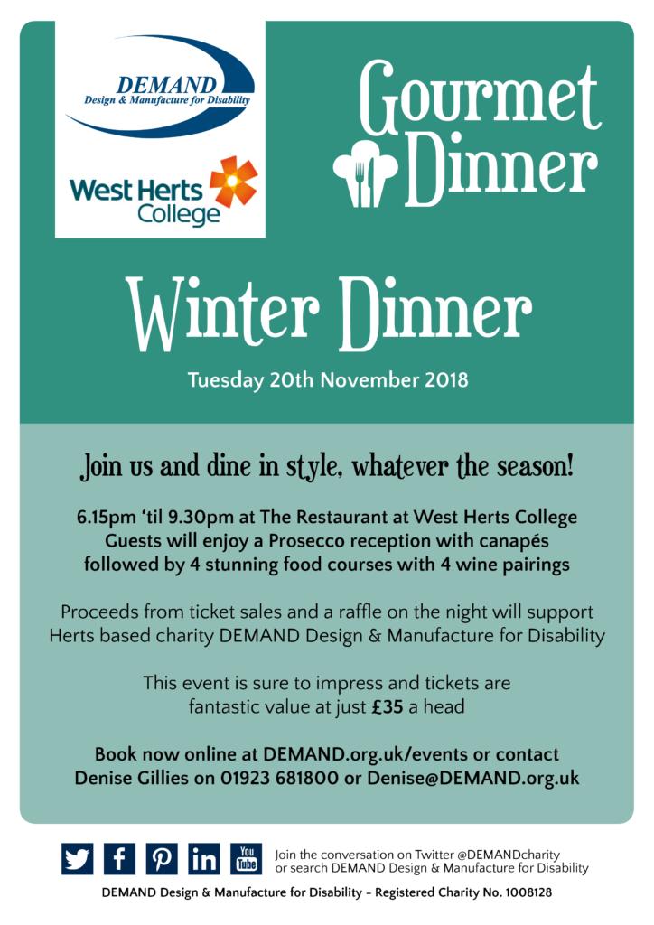 Winter gourmet dinner poster