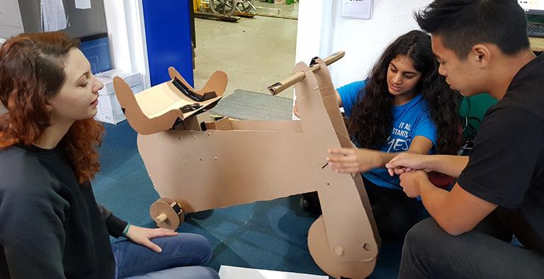 Heera presents her trike design