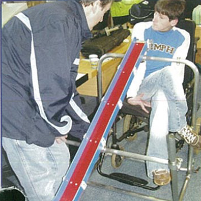 A boccia ramp made by DEMAND in the past