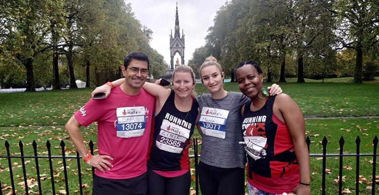 DEMAND fundraisers after running the royal parks half marathon