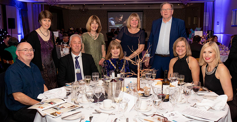 Anthony Soothill and guests at DEMAND's Grand Gala dinner