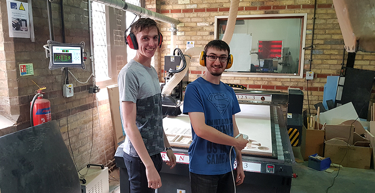 Work Experience student and DEMAND team member in the workshop