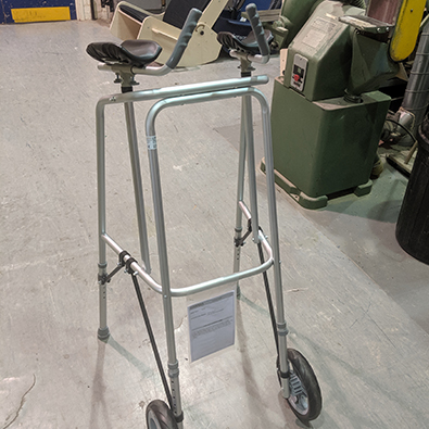 A walking frame adapted by DEMAND